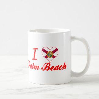 Amo el Palm Beach, la Florida Tazas De Café