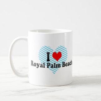 Amo el Palm Beach real, Estados Unidos Taza Básica Blanca