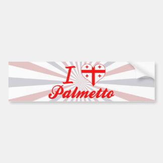 Amo el Palmetto, Georgia Pegatina De Parachoque