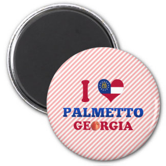 Amo el Palmetto, Georgia Imán De Nevera