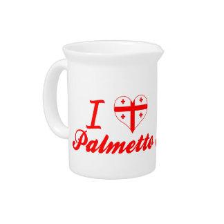 Amo el Palmetto, Georgia Jarra De Beber