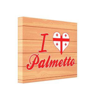 Amo el Palmetto, Georgia Impresión En Lona