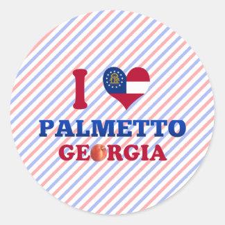 Amo el Palmetto, Georgia Pegatinas Redondas