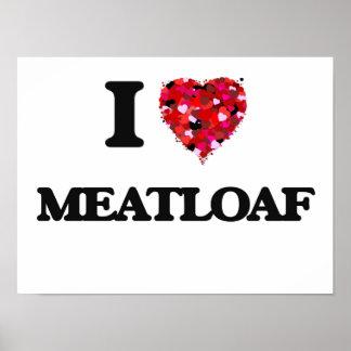 Amo el pan con carne póster
