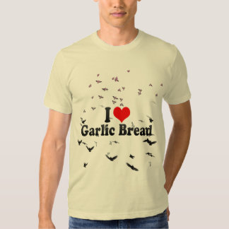 Amo el pan de ajo remeras