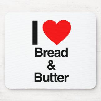 amo el pan y la mantequilla tapetes de ratón