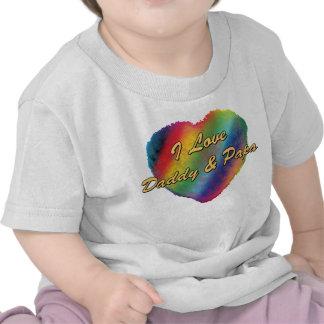 Amo el papá y a la papá camiseta
