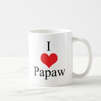 Amo el Papaw (del corazón) Tazas De Café