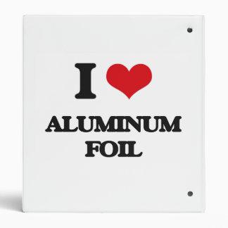 Amo el papel de aluminio carpeta 2,5 cm