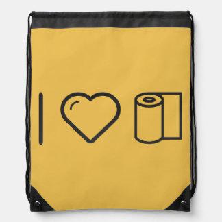 Amo el papel higiénico mochilas