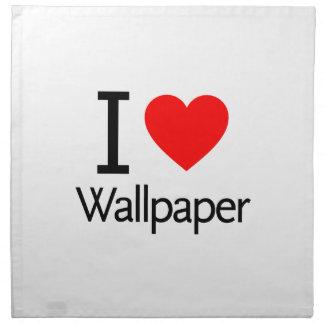 Amo el papel pintado servilleta de papel