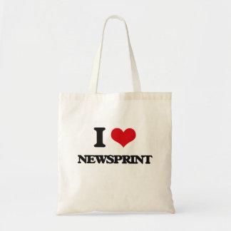 Amo el papel prensa bolsas