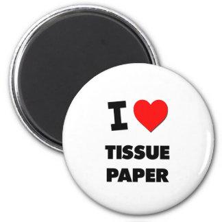 Amo el papel seda iman de frigorífico