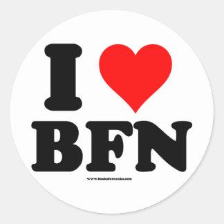 Amo el paquete del pegatina de BFN