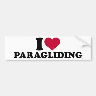Amo el paragliding pegatina para auto
