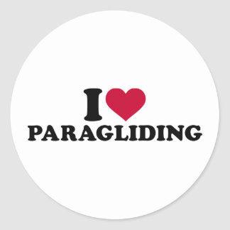 Amo el paragliding pegatina redonda