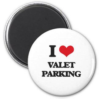 Amo el parking con aparcacoches imán redondo 5 cm