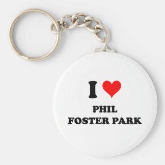 Amo el parque adoptivo la Florida de Phil Llavero Personalizado
