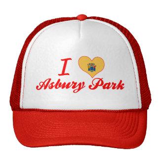 Amo el parque de Asbury, New Jersey Gorras De Camionero
