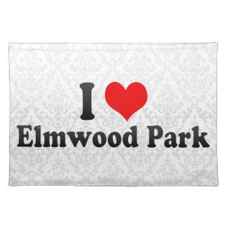 Amo el parque de Elmwood, Estados Unidos Manteles Individuales