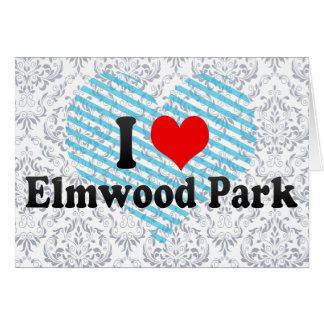 Amo el parque de Elmwood, Estados Unidos Tarjetas