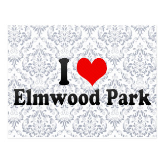 Amo el parque de Elmwood, Estados Unidos Tarjeta Postal