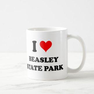 Amo el parque de estado de Beasley Taza Básica Blanca