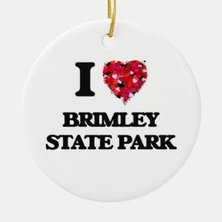 Amo el parque de estado de Brimley Michigan Adorno Navideño Redondo De Cerámica