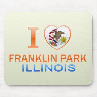 Amo el parque de Franklin, IL Tapete De Ratones