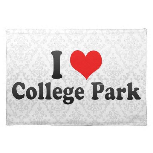Amo el parque de la universidad, Estados Unidos Mantel Individual