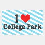 Amo el parque de la universidad, Estados Unidos Rectangular Altavoces