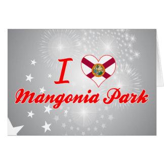 Amo el parque de Mangonia, la Florida Tarjeton