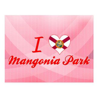 Amo el parque de Mangonia, la Florida Tarjetas Postales