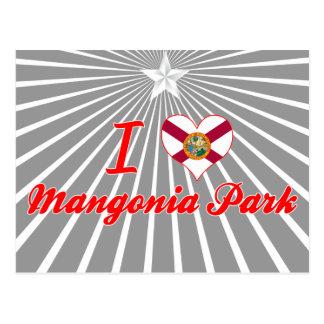 Amo el parque de Mangonia, la Florida Tarjeta Postal