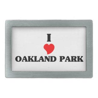 Amo el parque de Oakland Hebilla De Cinturon Rectangular