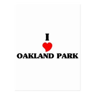 Amo el parque de Oakland Postales