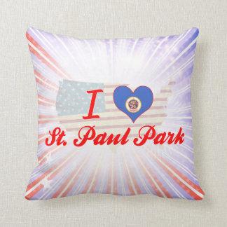 Amo el parque de San Pablo, Minnesota Cojin
