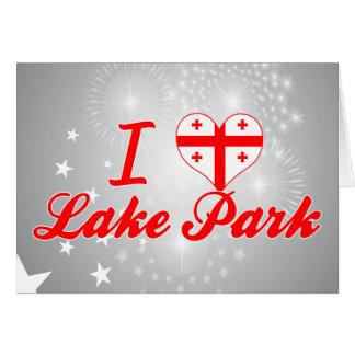 Amo el parque del lago, Georgia Tarjeta De Felicitación