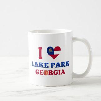 Amo el parque del lago, Georgia Taza Básica Blanca