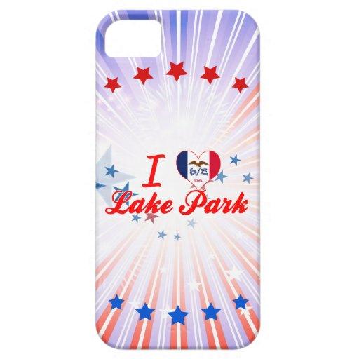 Amo el parque del lago, Iowa iPhone 5 Case-Mate Protector