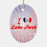 Amo el parque del lago, Iowa Ornato