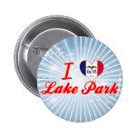 Amo el parque del lago, Iowa Pins