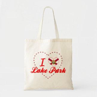 Amo el parque del lago la Florida Bolsas De Mano