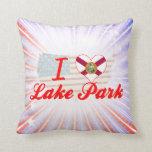 Amo el parque del lago, la Florida Cojin