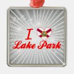 Amo el parque del lago, la Florida Ornamento Para Arbol De Navidad