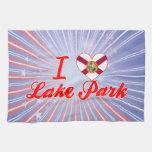 Amo el parque del lago, la Florida Toallas De Mano