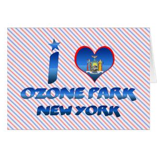 Amo el parque del ozono, Nueva York Tarjetas
