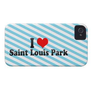 Amo el parque del Saint Louis, Estados Unidos iPhone 4 Case-Mate Carcasas