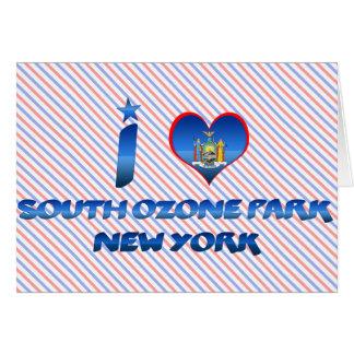 Amo el parque del sur del ozono, Nueva York Felicitaciones