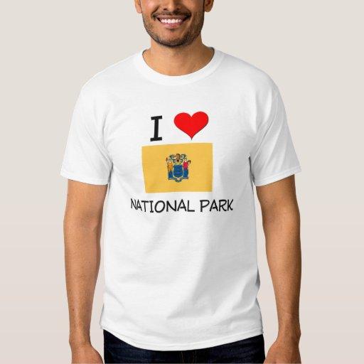 Amo el parque nacional New Jersey Playeras
